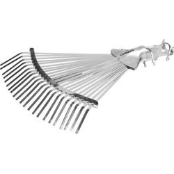 Грабли веерные GRINDA усиленные регулируемые, 22 плоских зуба, 300-440 мм / 421873