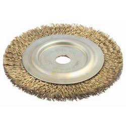 Щетка дисковая для шлифмашины стальная, 150 мм/16 мм / 3518-150-16