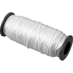 Шнур капроновый крученый СИБИН, белый, 45 кгс, Ø1.5 мм, 100 м / 50526