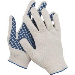 Перчатки DEXX трикотажные с обливной ладонью, 7 класс, х/б / 114001