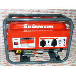 Генератор бензиновый KB 3500, 3 кВт, 220В/50Гц, 15 л, ручной старт / KRONWERK / 94692
