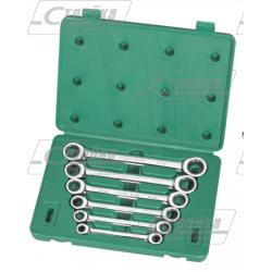 Набор ключей накидных с трещеточным механизмом Sata (6 предметов) / S09025