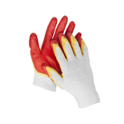 Перчатки рабочие трикотажные STAYER MAXSafe, MASTER, двойная обливная ладонь из латекса, 13 класс, L-XL / 11409-XL