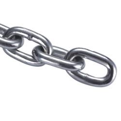Цепь короткозвенная стальная оцинкованная 10 мм DIN 766, ЗУБР / 4-304050-10