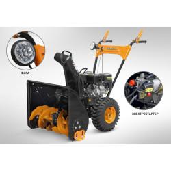 Снегоуборщик бензиновый CARVER STG-6556 ЕL  (фара + электропуск + 6,5 л.с)