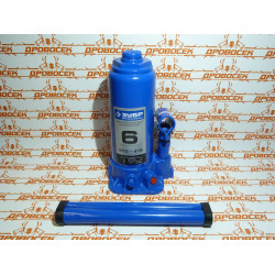 Домкрат гидравлический бутылочный ЗУБР Т-50 Профессионал (6 тонн + высота: от 215 до 415 мм) / 43060-6