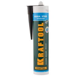 """Герметик KRAFTOOL KRAFTFLEX GX107 """"AQUA STOP"""" силиконовый стекольный, черный, 300 мл (Германия) / 41256-4"""
