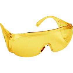 Очки DEXX защитные желтые, поликарбонатная монолинза с боковой вентиляцией / 11051