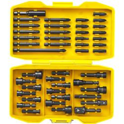 Набор бит и головок ударных STAYER BlackPro, PROFESSIONAL, Сr-Mo, 45 предметов, бокс / 26225-H45