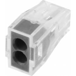 Клемма СВЕТОЗАР соединительная 2-проводная,  400 В, 24 А, 0.75-2.5 мм2, 2 шт. / 49170-2