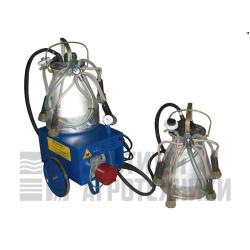 Доильный аппарат тандем «Фермер» АДЭ-01ТС, силиконовая сосковая резина