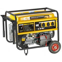 Генератор бензиновый Denzel GE 7900E (7,9 кВт, ручной/электрический стартер, колеса) / 94685
