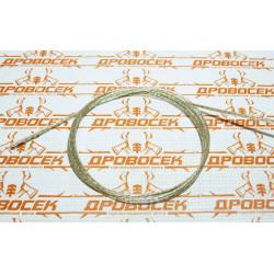 Трос стальной STAYER, MASTER (оболочка ПВХ, Ø3.0, 1.7 мм, максимальная нагрузка 220 кг, 1м) / 30410-30