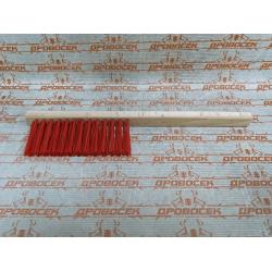 Щетка-сметка, искусственная щетина, трехрядная, деревянный корпус, 320 мм / 39020