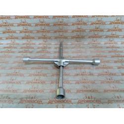 """Ключ-крест автомобильный усиленный ЗУБР, 17-19-22-1/2"""", с присоединительным квадратом 1/2"""" / 27547"""