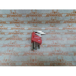 """Набор ключей ЗУБР имбусовых коротких, """"Мастер"""", HEX1.5-HEX10, 9 предметов / 27460-1"""