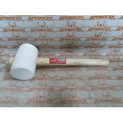 Киянка резиновая белая с деревянной ручкой ЗУБР, 900 г.  / 20511-900