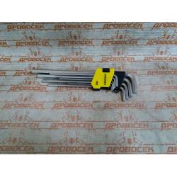 Ключи имбусовые удлиненные STAYER 9 шт., CR-V / 2741-H9