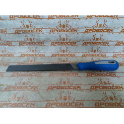 """Напильник ЗУБР плоский, """"Эксперт"""", двухкомпонентная рукоятка, №2, 200 мм / 1611-20-2"""