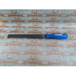 """Напильник ЗУБР плоский, """"Эксперт"""", двухкомпонентная рукоятка, №1, 200 мм / 1611-20-1"""