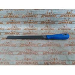 """Напильник ЗУБР плоский, """"Эксперт"""", двухкомпонентная рукоятка, №3, 200 мм / 1611-20-3"""