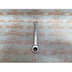 """Ключ гаечный комбинированный трещоточный ЗУБР, """"Профи"""", ГОСТ 2838-80, Cr-V сталь, 10 мм / 27074-10"""
