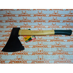 Плотницкий топор KRAFTOOL 0,8 кг + кованный + сталь марки Ст 55 + рукоятка из орешника / 20653-08
