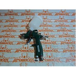 Краскопульт пневматический KRAFTOOL AirKraft Mini, HVLP, рабочее давление 3 бар, расход воздуха 80-130 л/мин, верхний бачок, 125 мл, сопло 1.0 мм / 06565-1.0