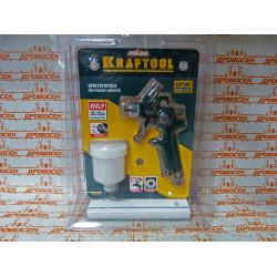 Краскопульт KRAFTOOL (с верхним бачком 125 мл + 100-125 л/мин + сопло - 1 мм + изготовление Германия) / 06565