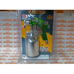 Краскопульт KRAFTOOL (HVLP, с нижним  бачком 1000 мл + 260-320 л/мин + сопло - 1,4 мм + изготовление Германия) / 06520