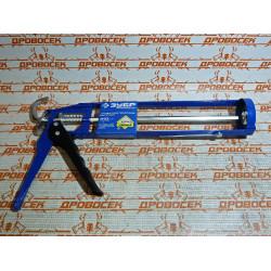 """Пистолет для герметиков скелетный ЗУБР, """"Эксперт"""", 310 мл, шестигранный усиленный шток / 06631"""
