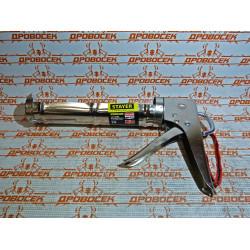 STAYER полукорпусной пистолет для герметика, хромированный, 310 мл, серия Professional / 0662