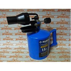 Паяльная лампа ЗУБР с ускоренным нагревом (ВК-15 + 1,5 л) / 40652-1.5