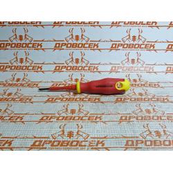 Отвертка крестовая диэлектрическая STAYER ELECTRO, PROFI, до 1000 В, PH0х60 мм / 25142-0-06