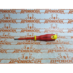 Отвертка шлицевая диэлектрическая STAYER ELECTRO, PROFI, до 1000 В, SL3.0x75 мм / 25141-03-07