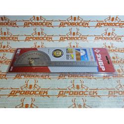 Транспортир - угломер ЗУБР, нержавеющая сталь / 34292
