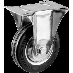Колесо неповоротное d=100 мм, г/п 70 кг, резина/металл, игольчатый подшипник, ЗУБР Профессионал / 30936-100-F