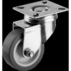 Колесо поворотное d=50 мм, г/п 40 кг, термопластич. резина/полипропилен, ЗУБР Профессионал / 30946-50-S
