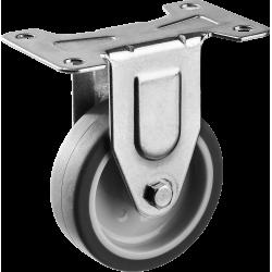 Колесо неповоротное d=75 мм, г/п 60 кг, термопластич. резина/полипропилен, ЗУБР Профессионал / 30946-75-F
