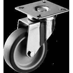 Колесо поворотное d=75 мм, г/п 60 кг, термопластич. резина/полипропилен, ЗУБР Профессионал / 30946-75-S