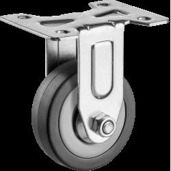 Колесо неповоротное d=50 мм, г/п 35 кг, резина/полипропилен, ЗУБР / 30956-50-F