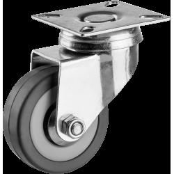 Колесо поворотное d=50 мм, г/п 35 кг, резина/полипропилен, ЗУБР / 30956-50-S