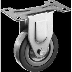 Колесо неповоротное d=75 мм, г/п 50 кг, резина/полипропилен, ЗУБР / 30956-75-F
