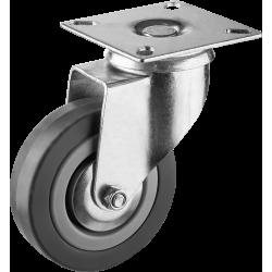 Колесо поворотное d=75 мм, г/п 50 кг, резина/полипропилен, ЗУБР / 30956-75-S