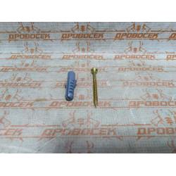 """Дюбель распорный полипропиленовый, тип """"ЕВРО"""", в комплекте с шурупом, 12 х 60 / 6,0 х 80 мм, 4 шт, ЗУБР / 30662-12-60"""