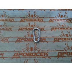 Карабин DIN 5299С, 5мм, 1 шт, оцинкованный, ЗУБР / 304546-05