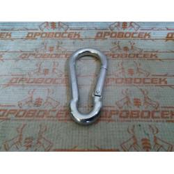Карабин DIN 5299С, 10мм, 1 шт, оцинкованный, ЗУБР / 304546-10