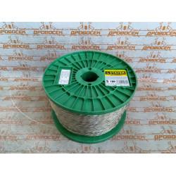 Трос стальной STAYER, MASTER, оболочка ПВХ, Ø5.0 (3.4) мм, максимальная нагрузка 825 кг / 30410-50 / цена за 1 п.м.
