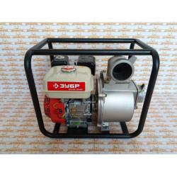 Мотопомпа бензиновая ЗУБР ЗБМП-1000 (7,5 л.с. + Honda GX200 + диаметр - 80 мм + производительность - 60000 л/ч)