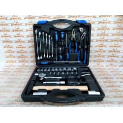 Набор инструмента слесарно-монтажного СИБИН, сталь С45, 56 предметов, пластиковый кейс / 27765-H56